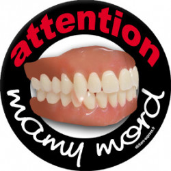 Stickers / autocollant mamy mord